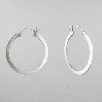 Flat Medium Hoop Earring