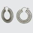 Large Filigree and Granulation Hoop Earrings