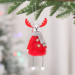 Furry Reindeer Holidays Hanging Ornament (6 Colors)