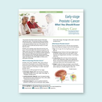 Early Stage Prostate Cancer: What You Should Know