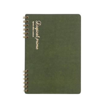 Logical Prime W Ring Notebook A5(Green/ Navy)