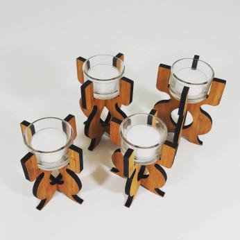 Equinox Tea Light Holder in bamboo