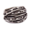 Layered Stacked Tribal Sterling Ring