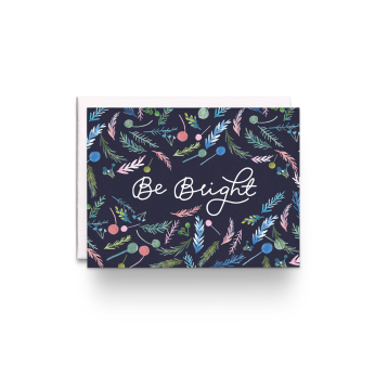Be Bright Floral Holiday Greeting Cards