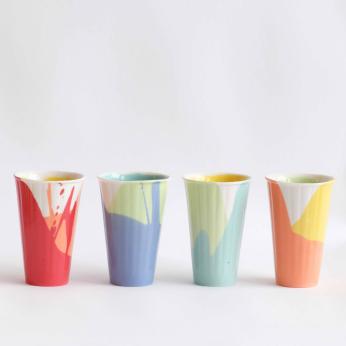"""POURed"" Handmade Coffee/Tea Cup - TALL"