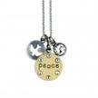 Inspirational Peace Jumble Necklace