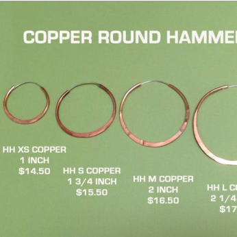 Round Copper Hoops