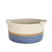 Handle Basket - Jute and Blue-Grey