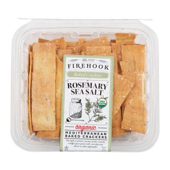Firehook Organic Baked Crackers - Rosemary Sea Salt 8oz