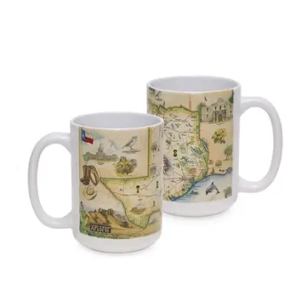 XPLORER MAPS hand-drawn map ceramic mugs