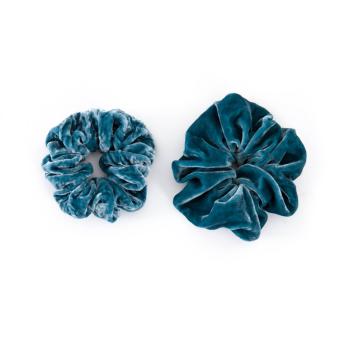 Velvet Scrunchies set   Persian Blue