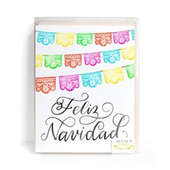 Feliz Navidad Cards, Set of 8