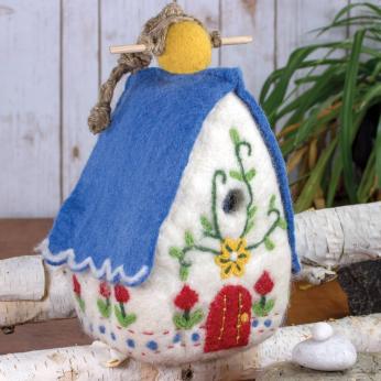 Hand Felted Birdhouses