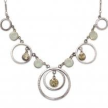 Circles and Crystals Necklace