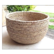 Wide cylindrical handwoven Basketry