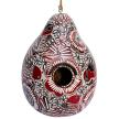Lace Birds - Gourd Birdhouse