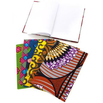Ghanaian Ankara Cloth Sketchbook Notebook in Assorted Patterns
