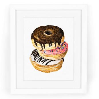 Donut Trio Art Print