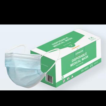 KINGFA MEDICAL Disposable Medical Mask CE,TYPE IIR,3PLY,50 PCS