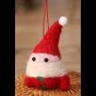 Egg Shaped Santa Hanging Ornament