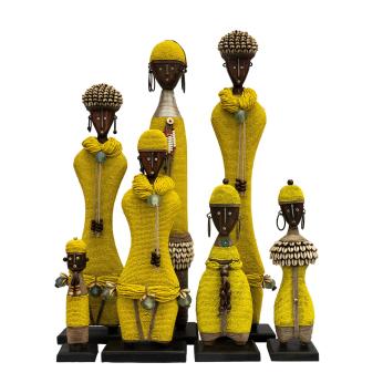 Beaded Namji Doll Yellow Family 02