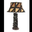 Ujamaa Lamp with round Mudcloth Shade