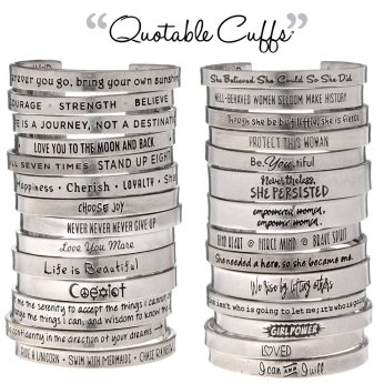 Quotable Cuffs