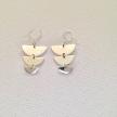 Half Moon Earrings, sterling silver