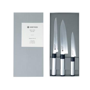 Heptagon-Silver 3-Piece Knife Set