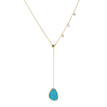 Opal Double Slider Necklace