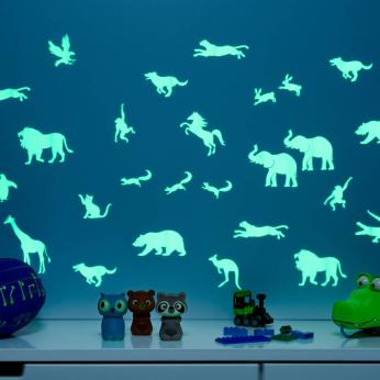 GLOPLAY Glow-in-the-dark Wall Stickers