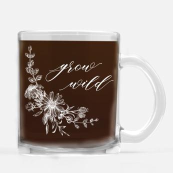 NEW Grow Wild Glass Mug