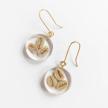Botanical SML Full-Moon Light Roast Coffee Earrings