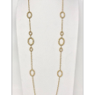 """35"""" Yellow Gold  Necklace with Oval"""