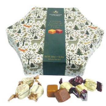 Gardiners Christmas Star Tin (Clotted Cream / Chocolate Fudge)