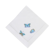 Butterfly Embroidery Dinner Napkin Set of 2 (Blue)