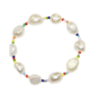 FRESHWATER LARGE PEARL & CANDY BEAD BRACELET