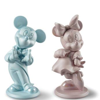 Mickey & Minnie Glazed Matte Porcelain