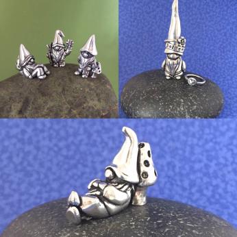 Gnome Miniatures, Ringholder, & Gnome    w/mushroom