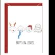 Xmas Dogs Greeting Card