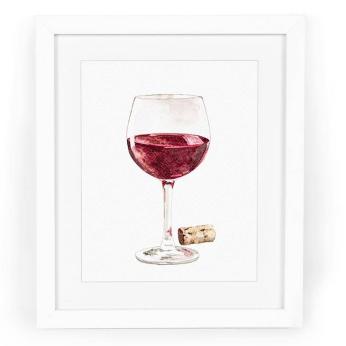 Red Wine with Cork Art Print