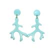 Small Pale Aqua Coral Branch Drop Earrings