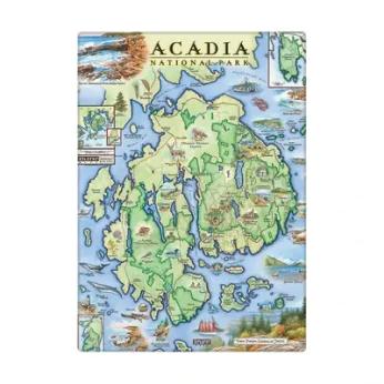 XPLORER MAPS hand-drawn map magnets