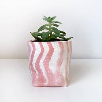Soft Chevron Small Fabric Planter