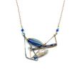 Purple Crystal Mantis Necklace