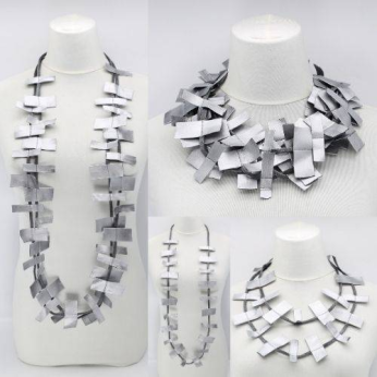 Recycled Leatherette necklace