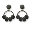 Black Woven Knot Hoop Earrings Success