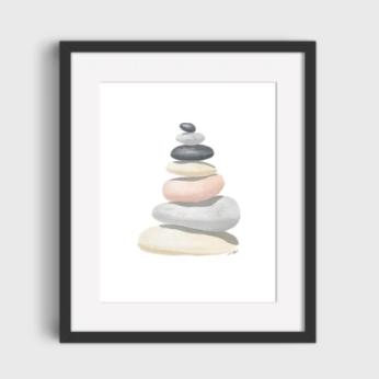 Art Print Zen Rock Design