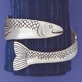 Fish wrap cuff bracelet JBC-16