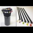 Natural Daffodil Dangler Pencil(black wood pencil)